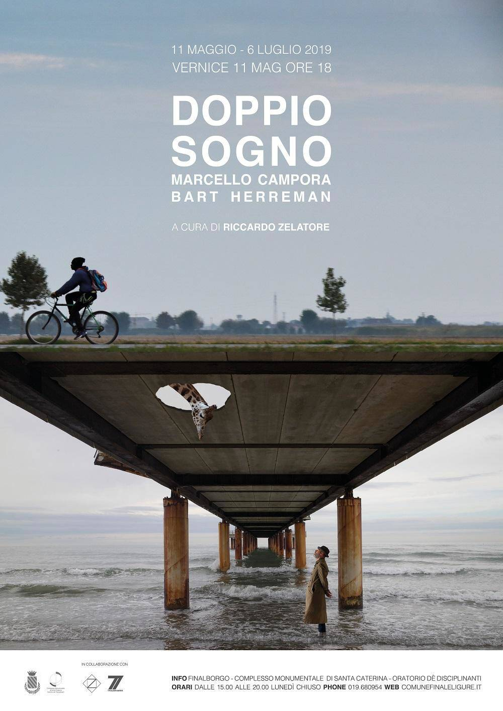 """""""Doppio sogno"""" mostra Marcello Campora e Bart Herreman Finale Ligure"""