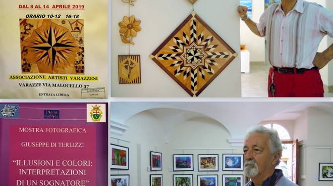 Ennio Bianchi e Giuseppe Di Terlizzi mostra d'arte Varazze