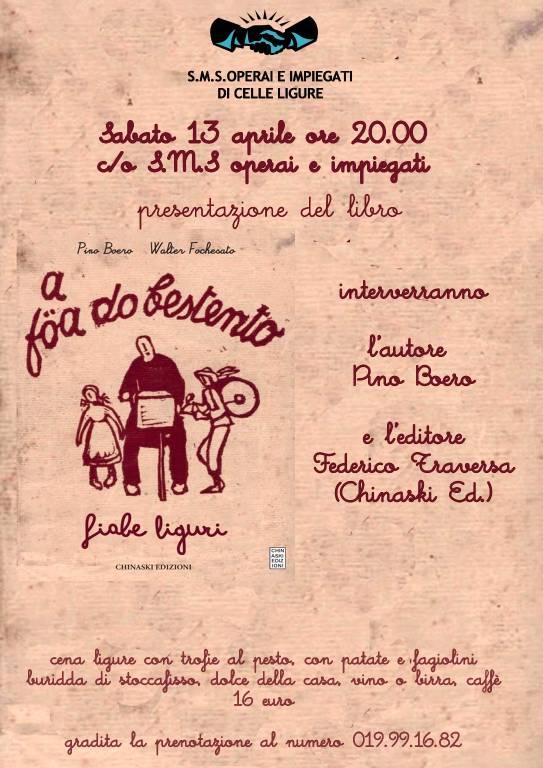 """""""Föa do bestento"""" cena e libro Pino Boero Celle Ligure"""