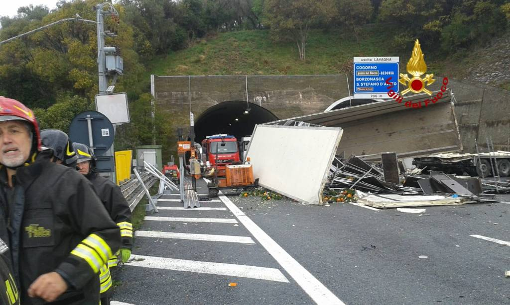Incidente A12 tra Sestri Levante e Lavagna