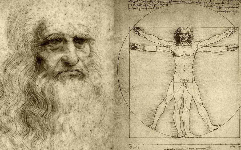 Leonardo da Vinci e Uomo vitruviano