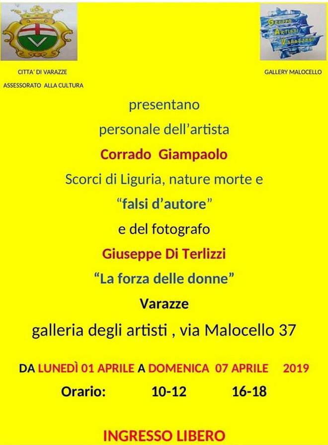 Mostre Corrado Giampaolo e Giuseppe Di Terlizzi Gallery Malocello