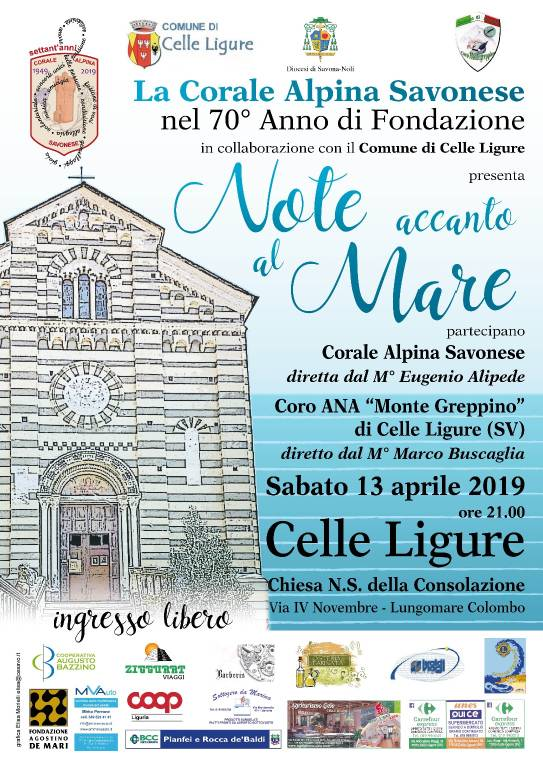 """""""Note accanto al mare"""" concerto Corale Alpina Savonese Celle Ligure"""
