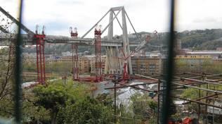 Ponte Morandi monconi est ovest pile pila 15 aprile cantieri lavori