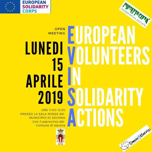 Presentazione progetto European Volunteers in Solidarity Actions Savona