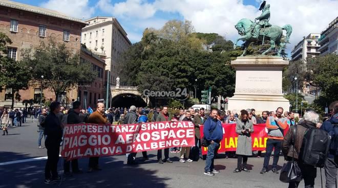 Presidio e sciopero piaggio