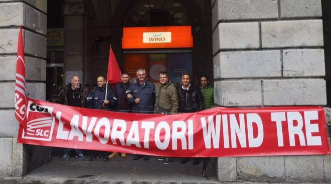 presidio lavoratori Wind Tre