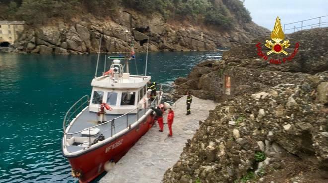 Recupero escursionista motovedetta vigili fuoco