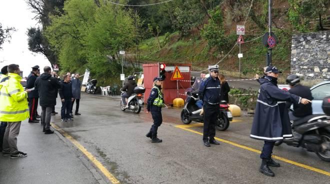 Riapertura strada Portofino