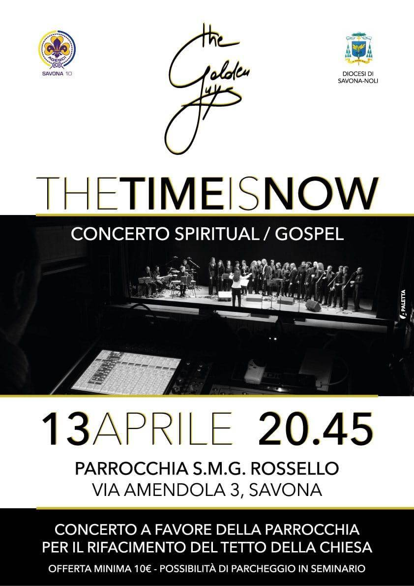 """The time is now"" concerto coro The Golden Guys Savona"