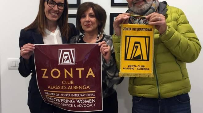 Zonta Club Alassio-Albenga e Sergio Giusto Sentiero San Martino