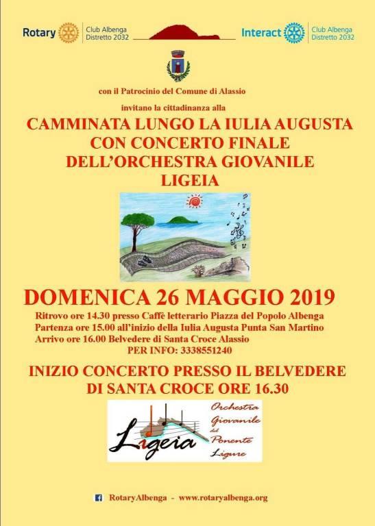 Camminata lungo la Iulia Augusta con concerto finale