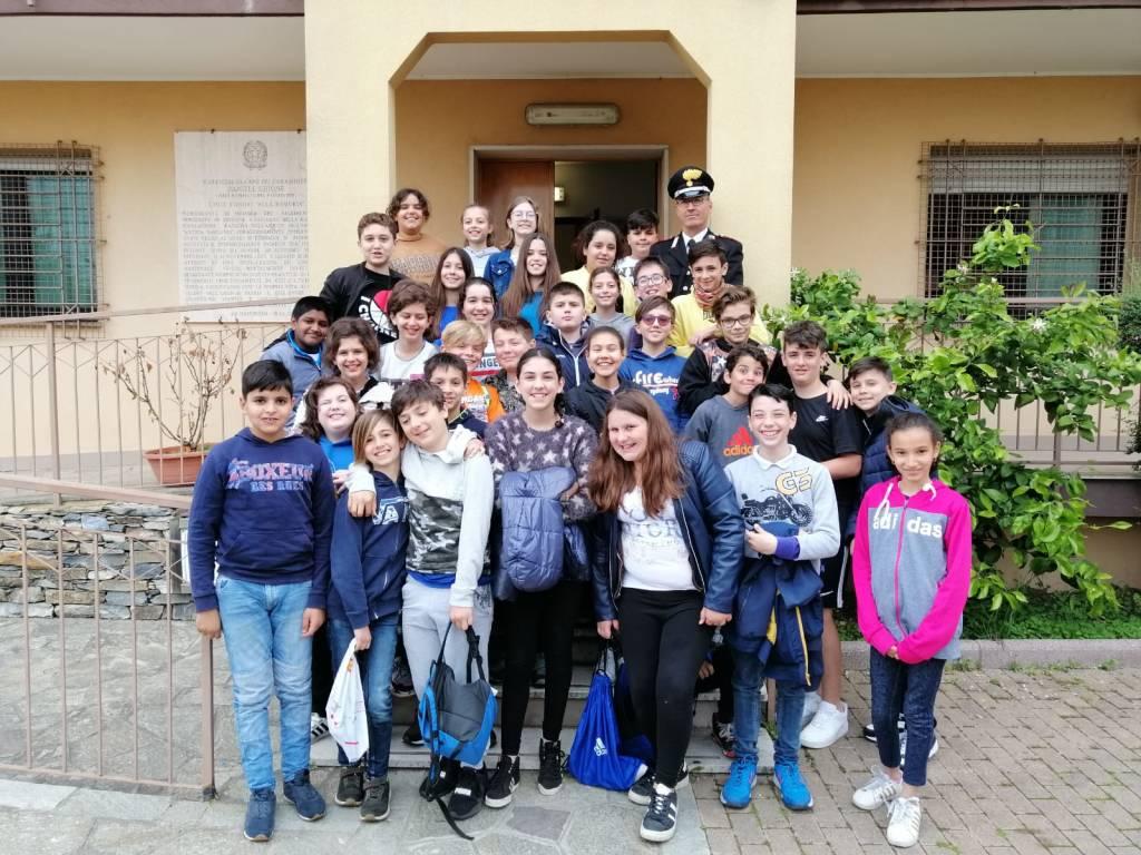 Carabinieri Villanova alunni ortovero