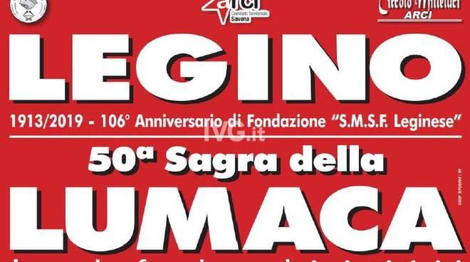 Nel week-end a Savona (Legino) al via la 50° esima edizione della Sagra della Lumaca