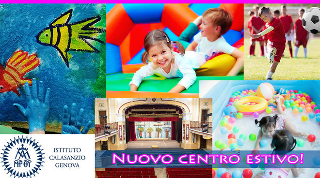 Nuovo CENTRO ESTIVO a Genova per bambini dai 3 agli 8 anni