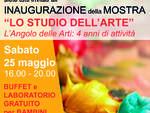 """Inaugurazione della mostra \""""Lo studio dell\'arte. L\'Angolo delle arti: 4 anni di attività\"""". Sabato 25 maggio ore 16, presso il Palazzo della Provincia a Savona."""