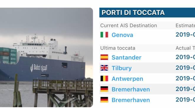 La 'nave delle armi' a Genova, protuali in sciopero