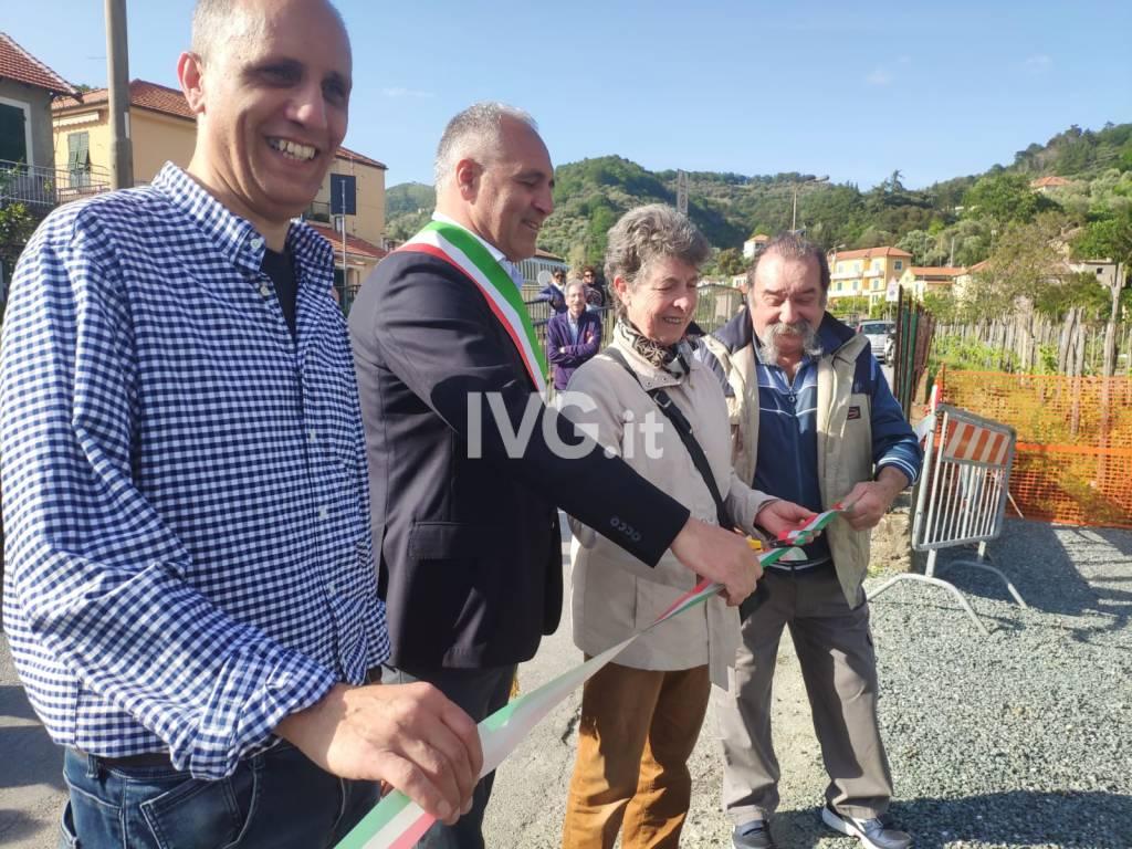 Inaugurato il nuovo parcheggio in via Boraxe a Luceto