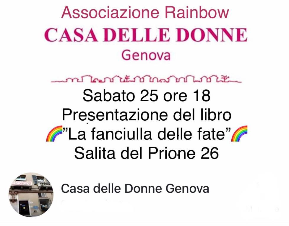 """""""La fanciulla delle fate"""" libro Luciano Ricci Casa delle Donne Genova"""
