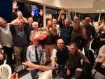 La festa per il pensionamento di 14 ferrovieri