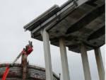 Lavorazioni ponte Morandi cantiere ponente 2 maggio 2019