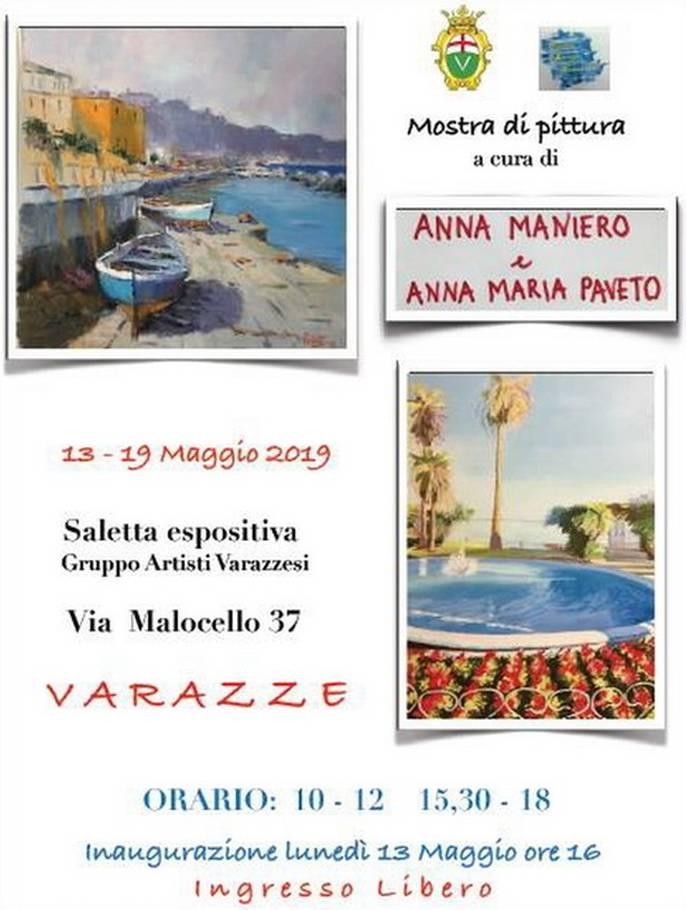 Mostra Anna Maria Paveto e Anna Maniero Varazze