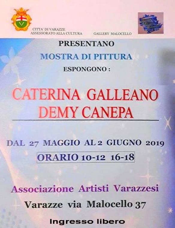 Mostra Demy Canepa e Caterina Galleano Gallery Malocello Varazze