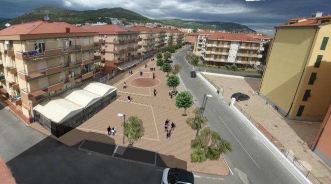 Nuova piazza Marconi Pietra