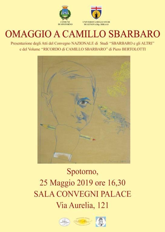 Omaggio a Camillo Sbarbaro a Spotorno