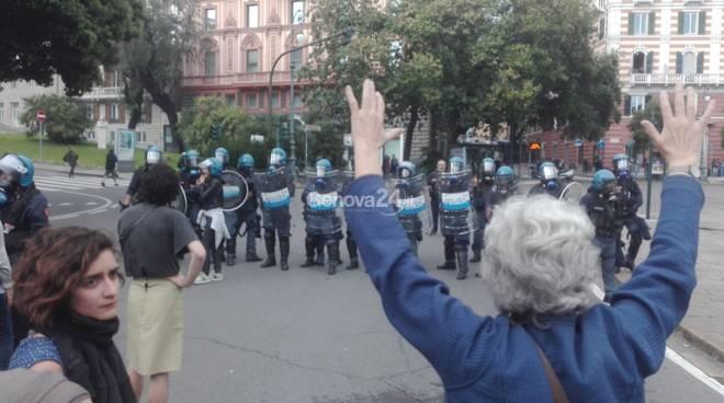 Presidio antifascista comizio Casapound