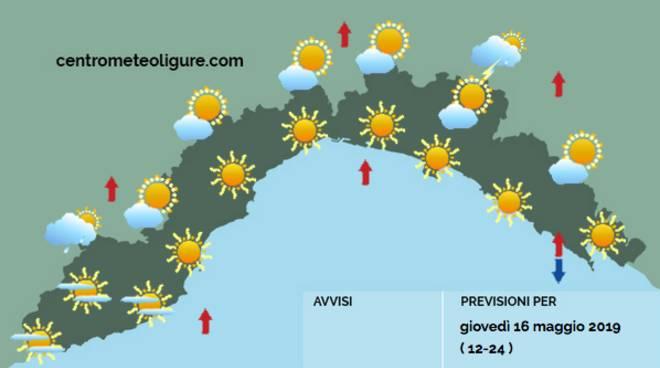 previsioni meteo 16 maggio
