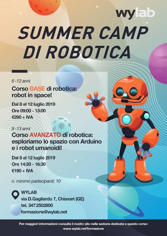 Summer Camp Wylab e Scuola di Robotica Chiavari 2019