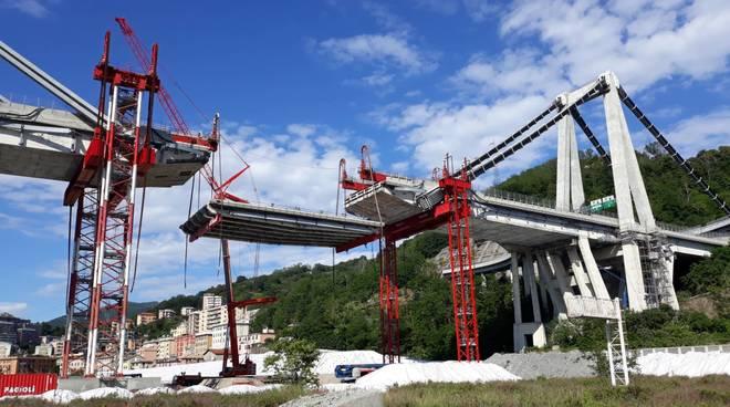 taglio trave tampone 11 ponte morandi