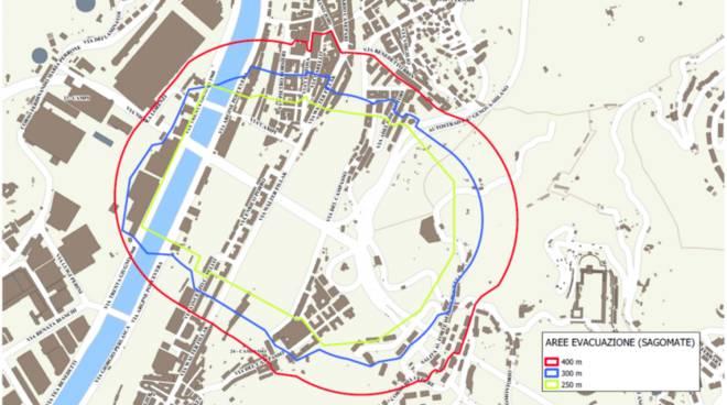 Area interessata da evacuazione