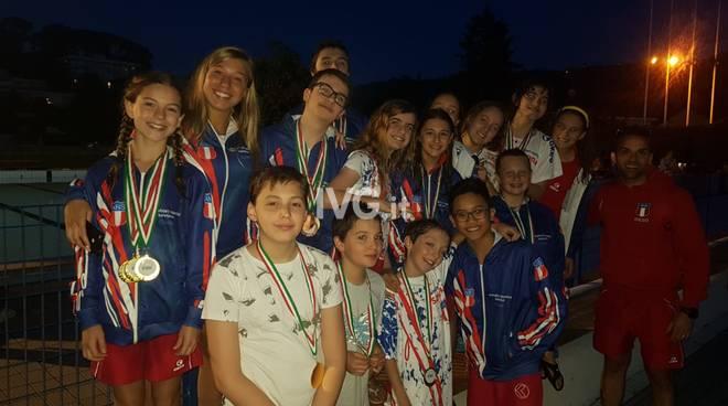 Nuoto salvamento : campionato estivo esordienti B/A. Grandi risultati per gli atleti dell\'Amatori Nuoto Savona.