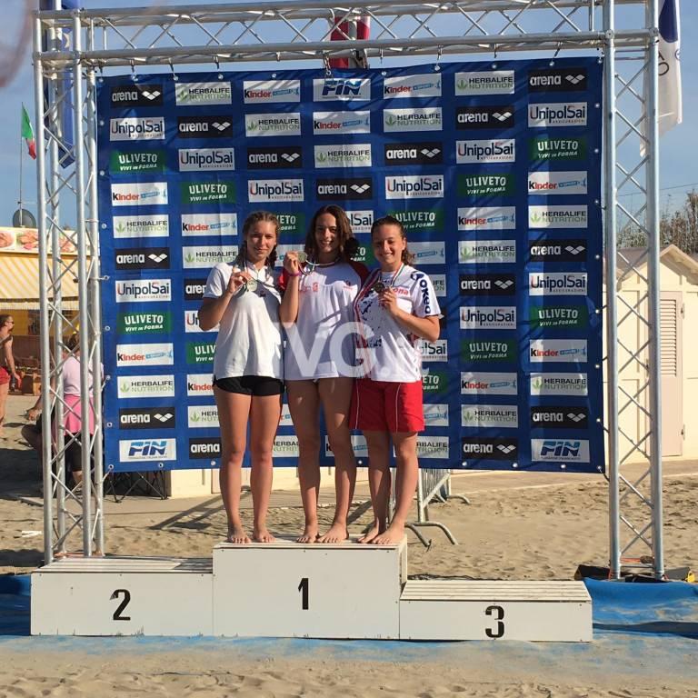 Sayda Sassari, Beatrice Bazzoli e Sara Guglielmi tengono alto il nome dell\'Amatori nuoto Savona
