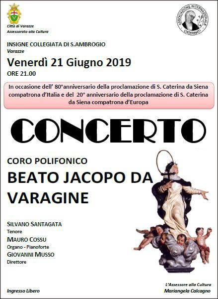 Concerto a Varazze per Santa Caterina da Siena