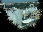 demolizione ponte morandi levante
