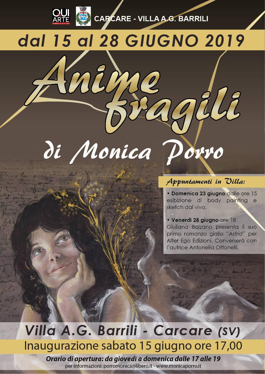 """Esposizione """"Anime Fragili"""" di Monica Porro"""