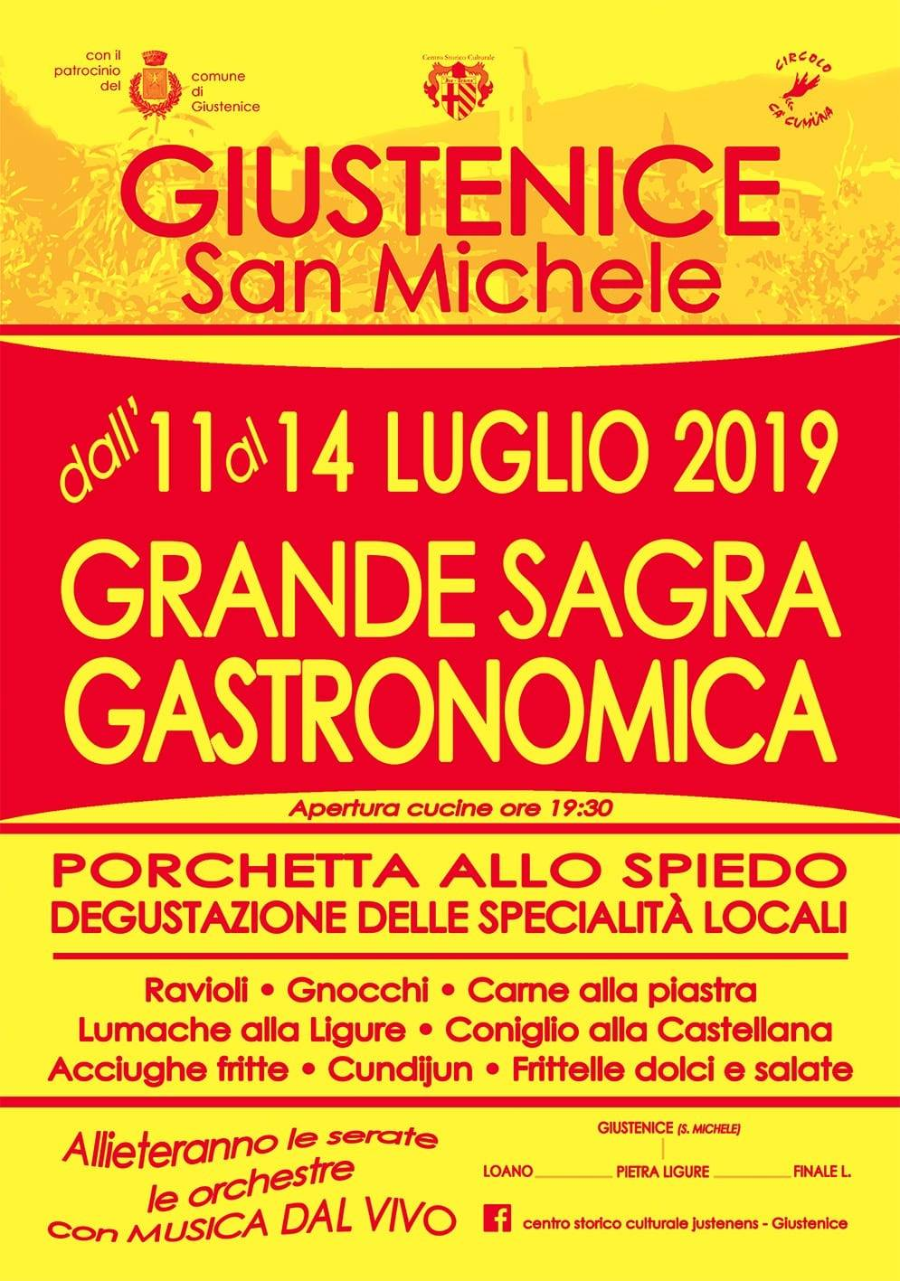 Grande Sagra Gastronomica di Giustenice 2019