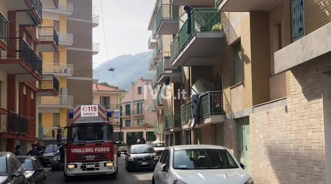 Incendio in un appartamento a Ceriale
