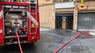 Incendio via caveri sampierdarena