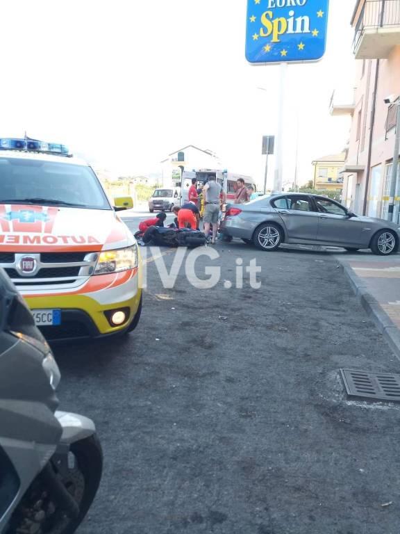 incidente scooter moto Loano aurelia