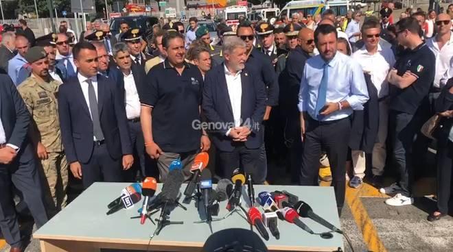 luigi di maio Giovanni Toti marco Bucci Matteo Salvini