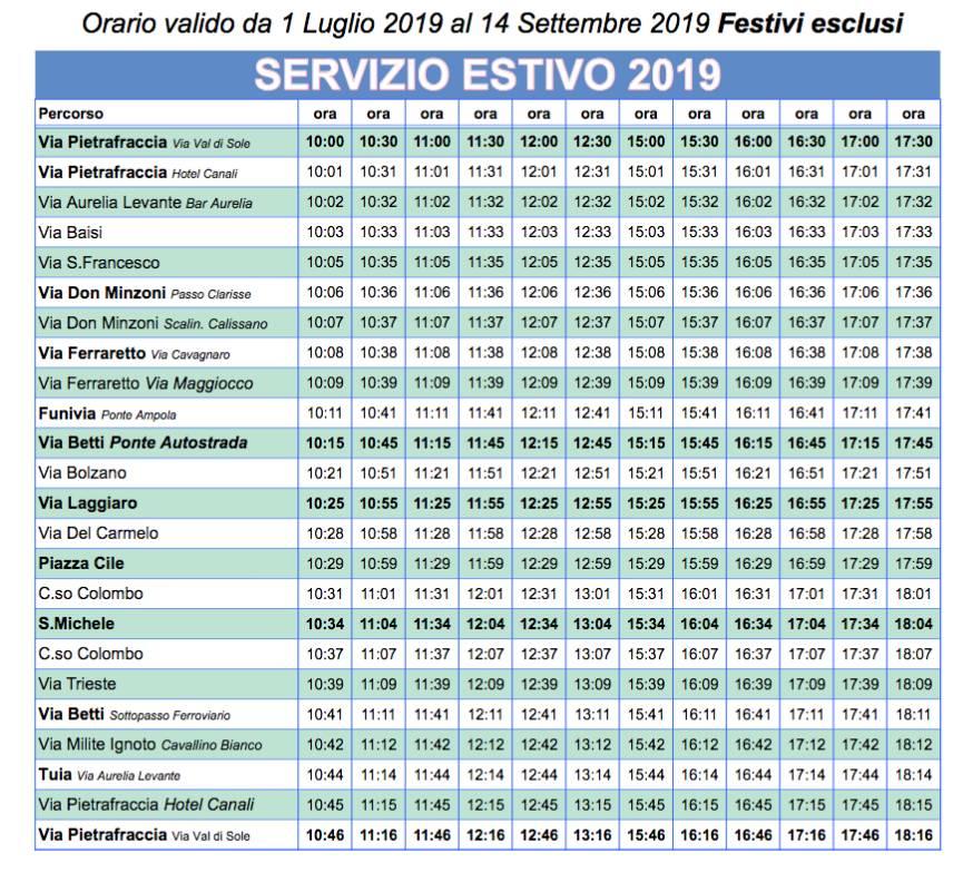 orari free citybus rapallo