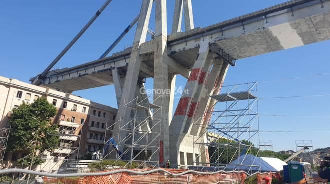 ponte morandi, pile 10 e 11