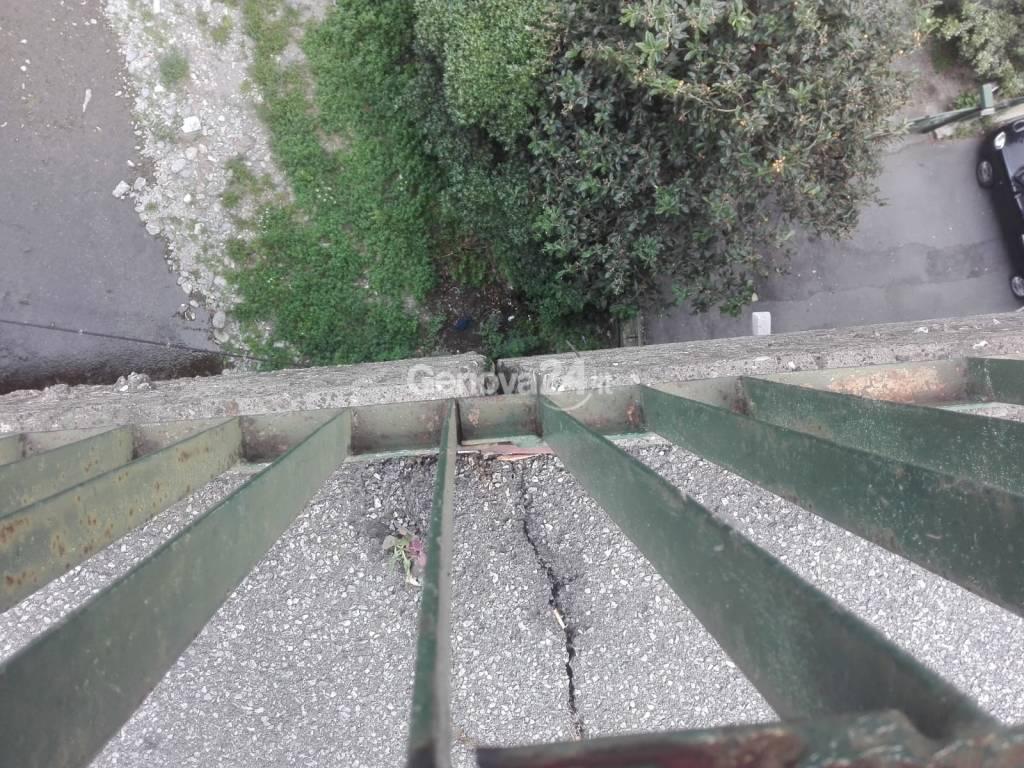 Ponte sullo Sturla crepe