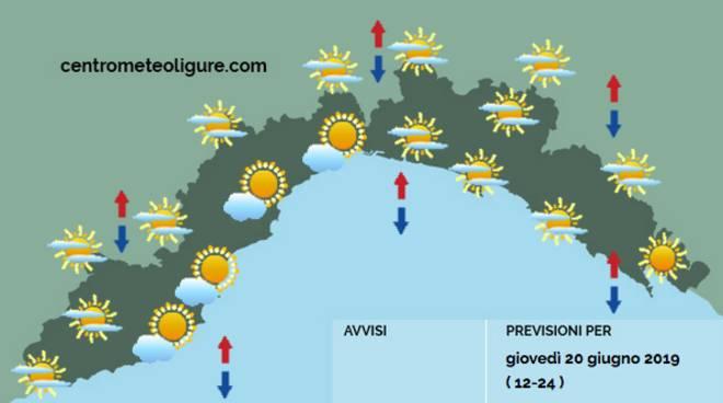 previsioni meteo 20 giugno