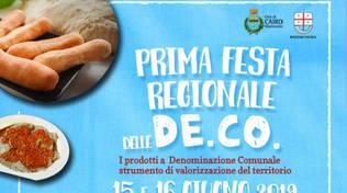 Prima festa regionale delle DE.CO. a Cairo Montenotte