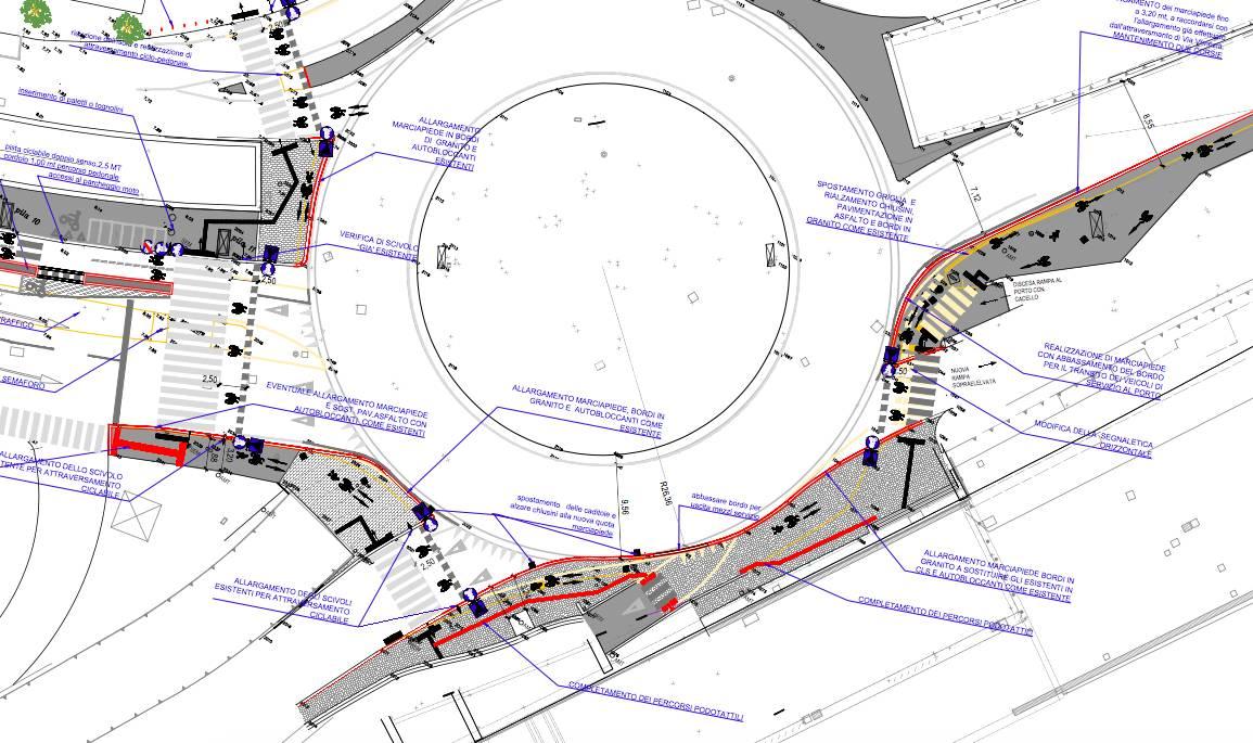 Progetto pista ciclabile Stazione marittima Via Di Francia